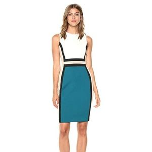 Calvin Klein Sleeveless Color Block Dress NWT NEW